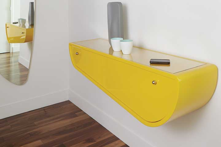 design de mobilier jaune