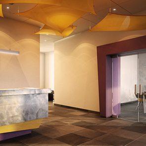 design commercial réception